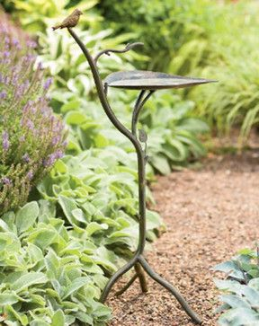 Bronzed Leaf Birdbath - eclectic - bird baths - Gardener's Supply Company