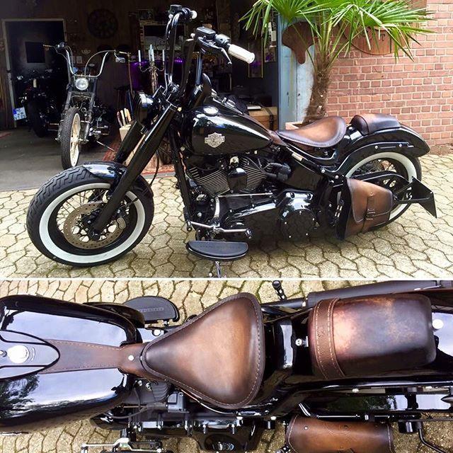 Detalles En Cuero Desgaste Manillar Alto Alforjas Y Portamatrícula Diy Bobber Kit Awesome 535 Best Bobbers Images Softail Harley Davidson Harley Softail