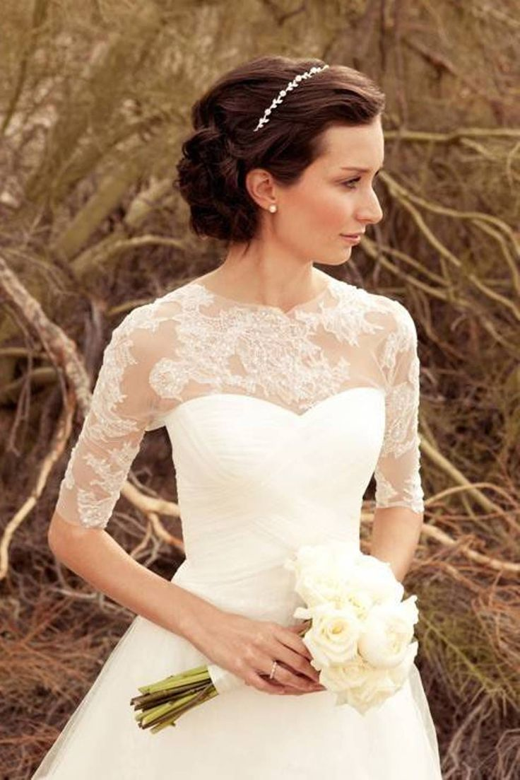 elegant wedding dresses with sleeves and its simple and pretty