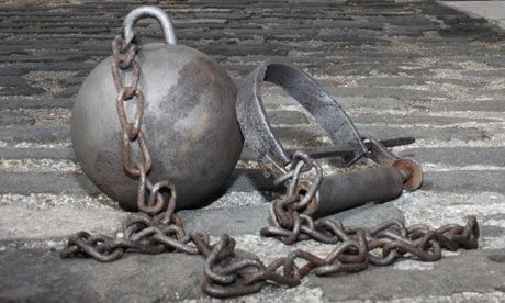 Image result for 18th century prison chains