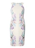 Womens Ivory Placement Print Shift Dress- Ivory