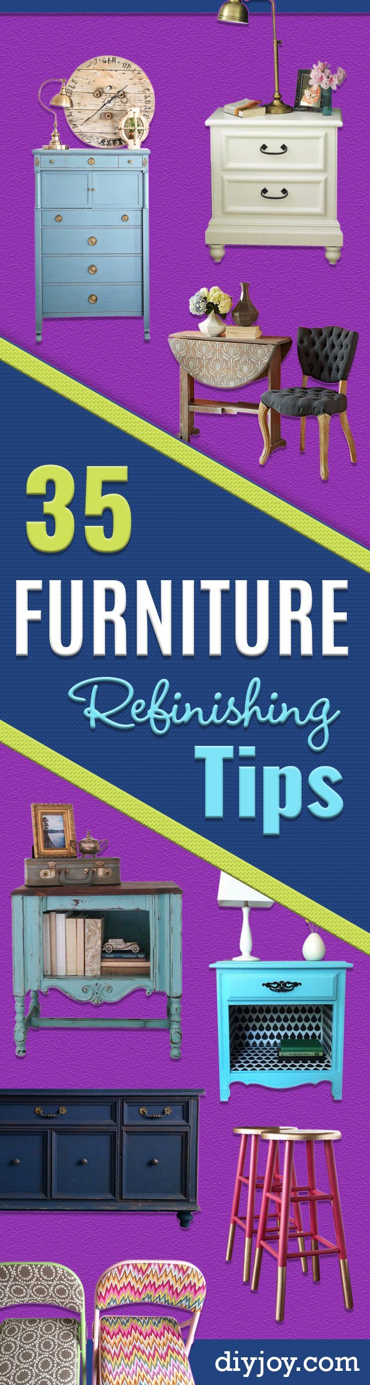 DIY Furniture Refinishing Tips - Creative Ways to Redo Furniture With Paint and ...