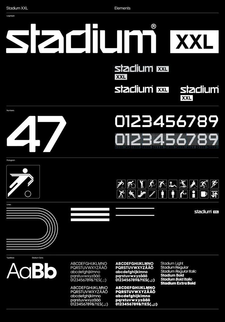 шрифт пиктограммы Stadium — Stockholm Design Lab