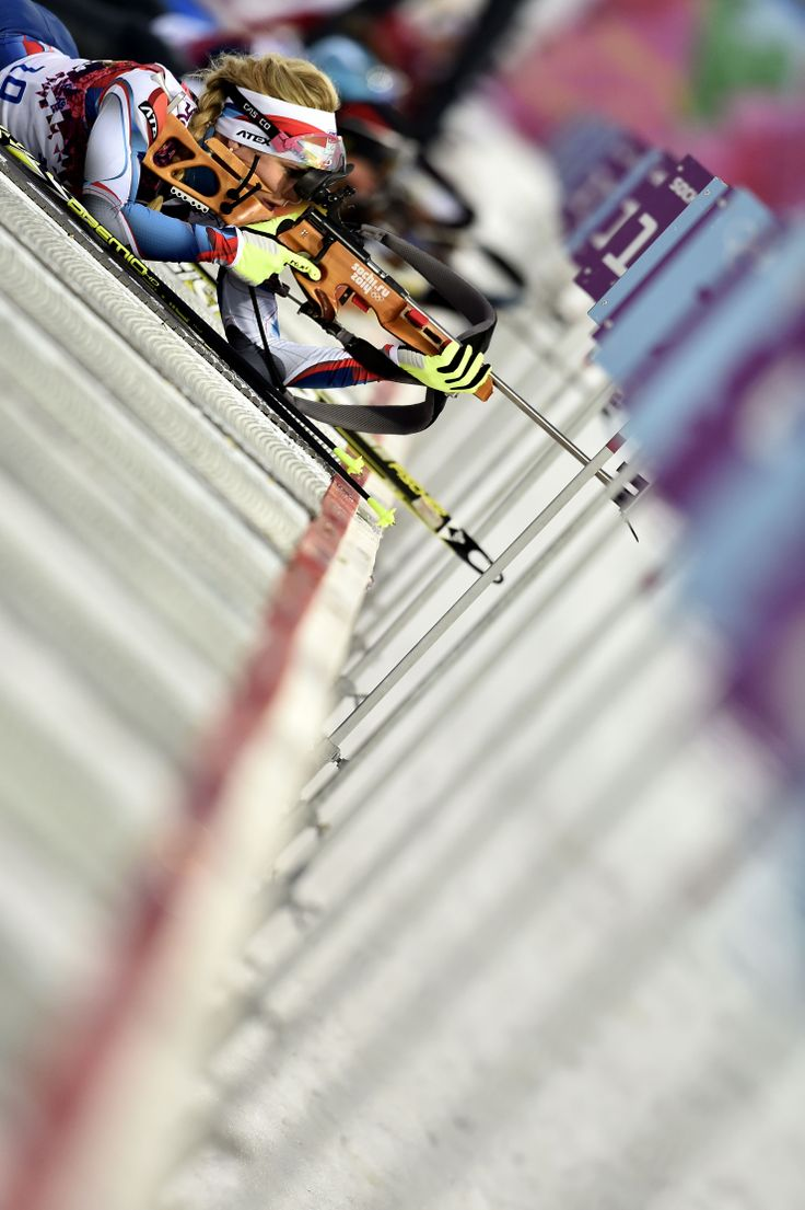 Gabriela Soukalova of the Czech Republic wins silver medal during the Biathlon Women's 12.5km Mass Start (c) Getty Images