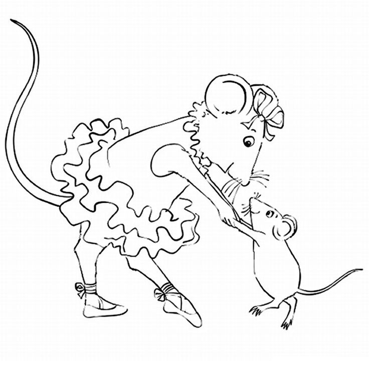 13 best coloring pages images on pinterest for Angelina ballerina coloring page