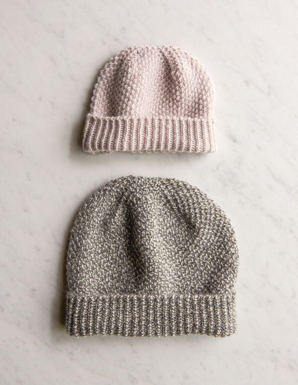 Fluffy brioche hat - free pattern from Purl Soho