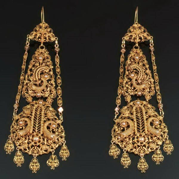 22 best 190JewelryGold Filigree images on Pinterest