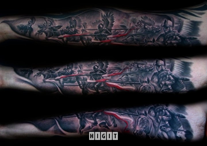 Husaria, husars, tattoo, tatuaż
