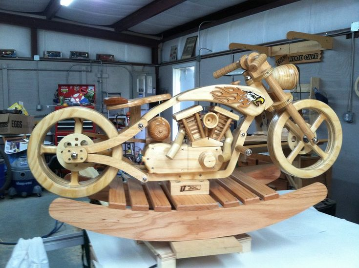 10 images about wooden models cars animals etc on for Woodworking plan for motorcycle rocker toy