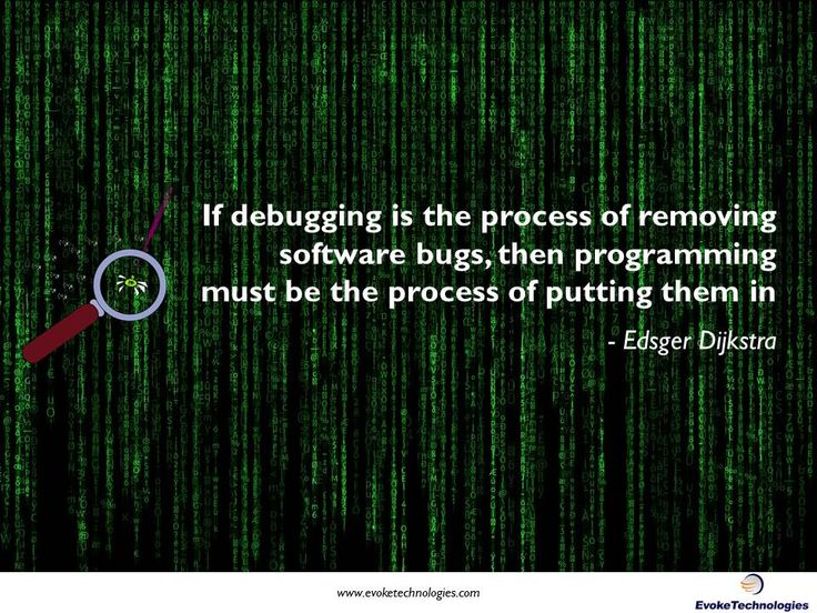 Here's an interesting quote by Edsger Dijkstra (Turing Award winning computer scientist). #programming #debugging