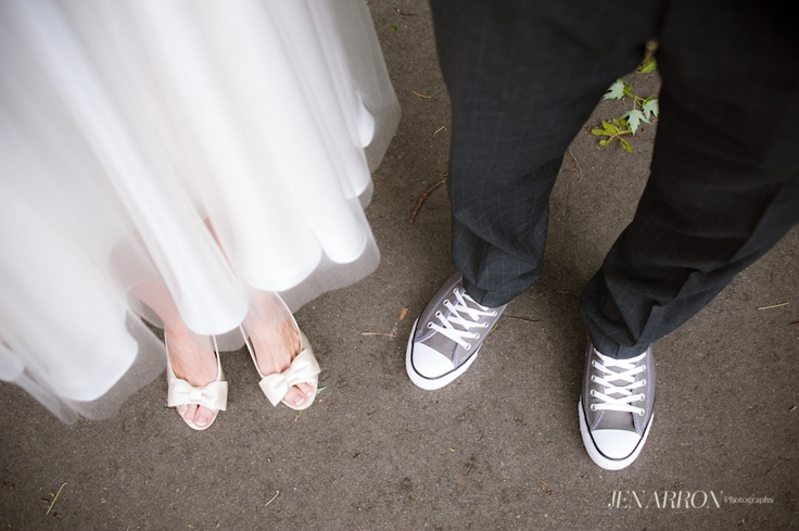 Wedding shoes of choice. Converse, and Nine West from Heel Boy in T.dot!    http://www.jenarron.com/blog/wp-content/uploads/2012/06/Rhy-11.jpg