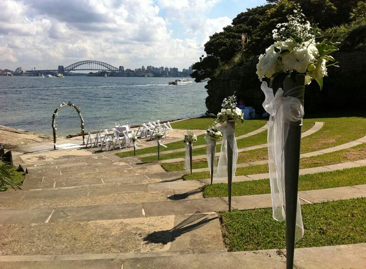 Where I'm actually having the ceremony - Bradleys Head Ampitheatre. Nicer decorations though :)