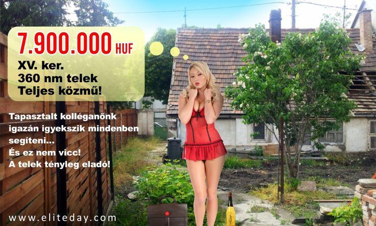 Eladó Összközműves Telek 360nm. XV.kerület. 7,9 Millió...  www.eliteday.com