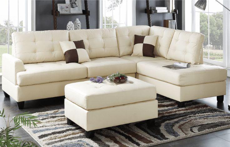 Ferndown Chaise Sofa in Latte RHF