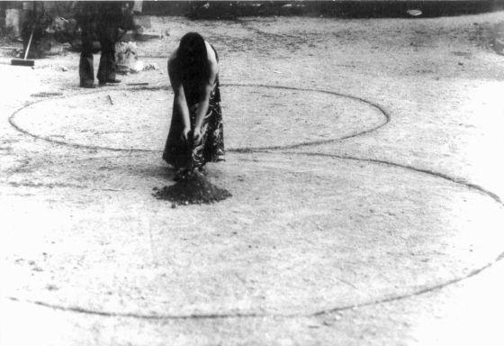 """Teresa Murak, """"Rzeźba dla Ziemi"""", Ubbeboda, Szwecja, 1974"""