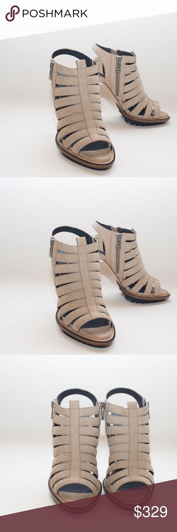 Belstaff Pelham Platform Sandal Women's Size 38 Belstaff Pelham Platform Sandals  New in box, without tags Authentic Belstaff  Italian Women's size 38 Beige leather with lug sole for excellent grip Side zipper on both sides of the shoe Heel hight: 5 inches Belstaff Shoes Heels