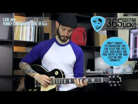 Lick 344/365 - Funky Chromatic Lick in Cm | 365 Guitar Licks Project