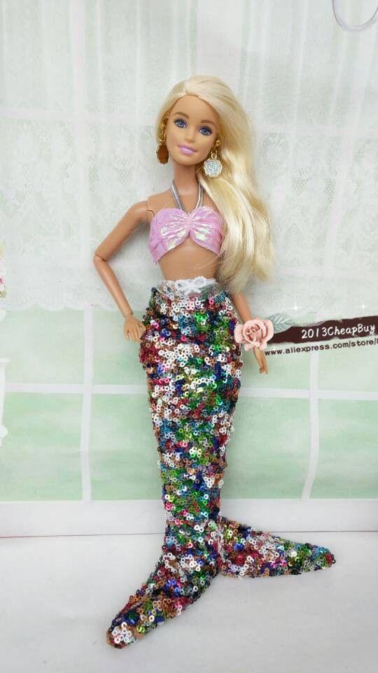 Christmas gift/Girl Birthday gift  Mermaid Suit Doll Dress for Barbie doll #Affiliate