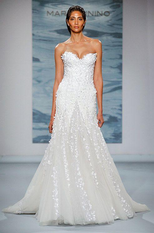 Strapless Textured Wedding Dress By Mark Zunino 2017