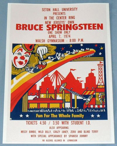 Bruce Springsteen Concert Poster Seton Hall The Wild The Innocent | eBay
