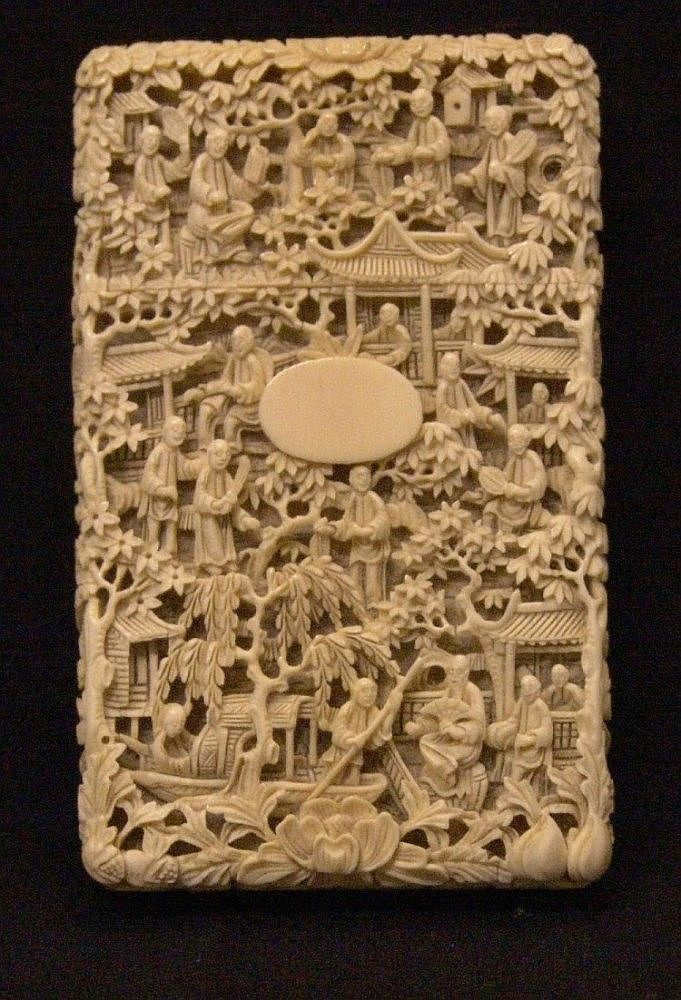 Buy online, view images and see past prices for A 19th century Chinese ivory card case Profusely. Invaluable is the world's largest marketplace for art, antiques, and collectibles.
