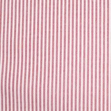 Italian Red/White Striped Cotton Woven