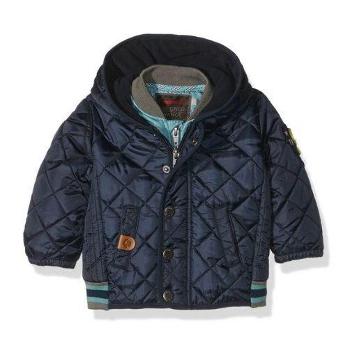 Elegante chaqueta impermeable de invierno azul marino para bebé niño de Catimini. #modabebe #modainfantil #ropabebe #ropainfantil