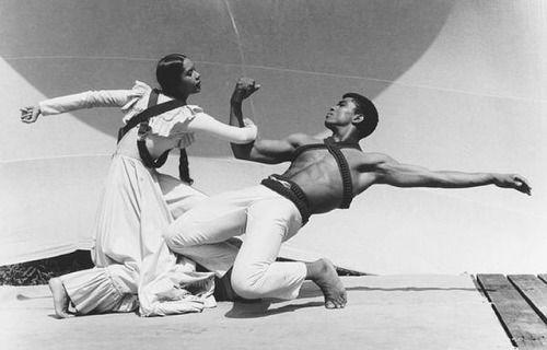 a forever favorite, carmen de lavallade and alvin ailey at the jacob's pillow dance festival in 1961. #fuggiamoinspo #dance #moderndance #carmendelavallade #alvinailey