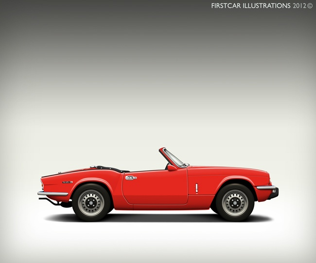 1972 TRIUMPH SPITFIRE MKIV - firstcar illustrations