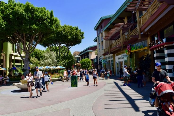 Hours, location, parking and security info for Downtown Disney at Disneyland.
