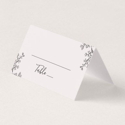 Floral Ampersand Wedding Place Card - floral bridal shower gifts wedding bride party