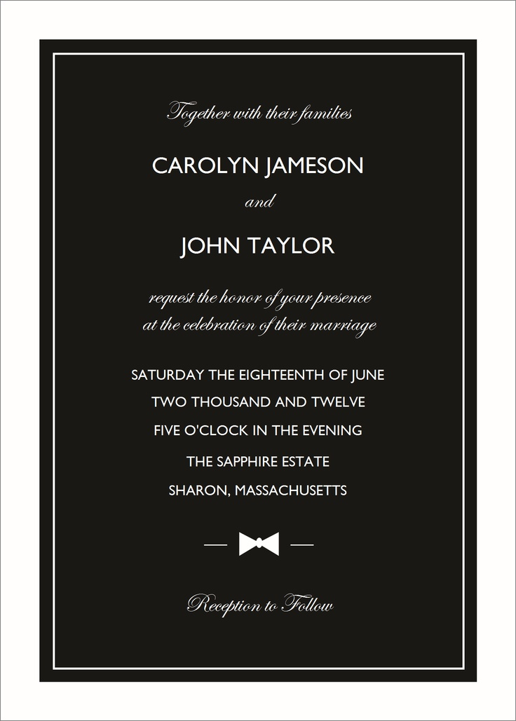 76 best Wedding Invitations images on Pinterest | Wedding stationery ...