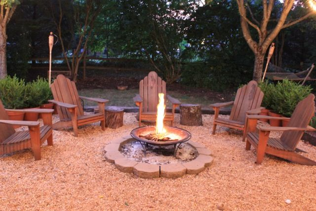 I want a fire-pit area in my backyard
