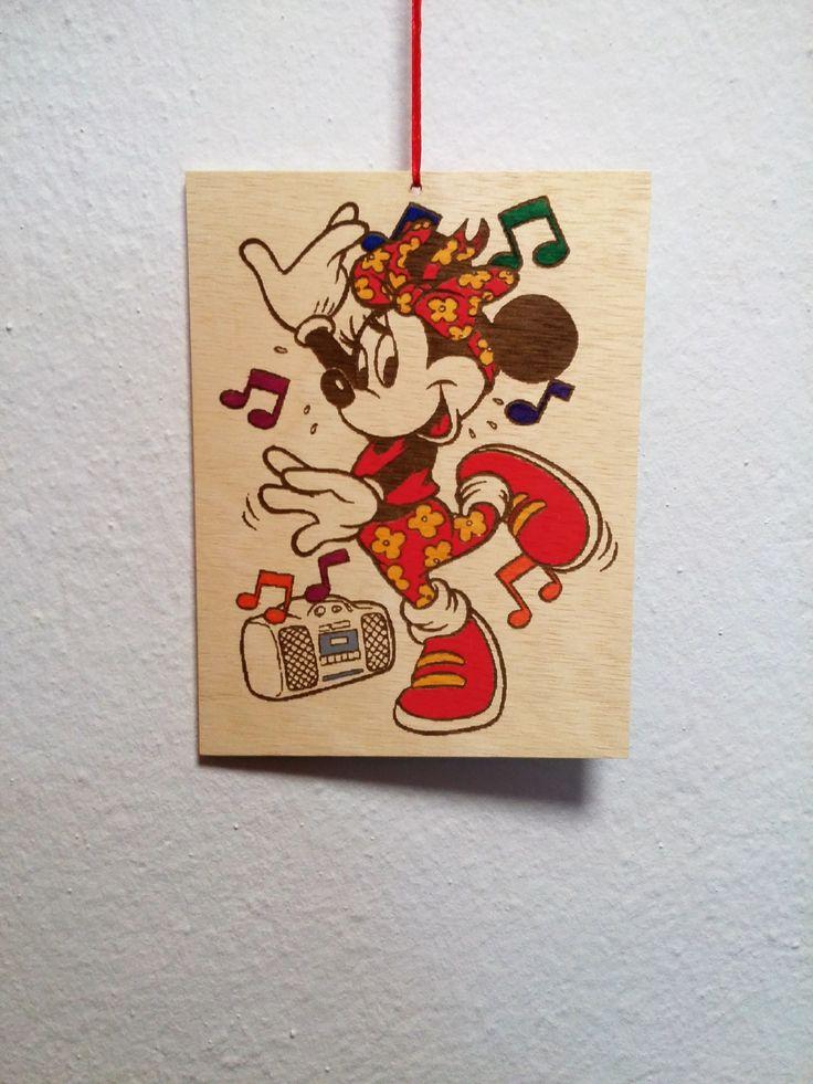 Minnie Mouse wooden picture Gift for kids, Gift for birthday, Disney Frame, Girl's Room Decor http://etsy.me/2B1MlDZ #housewares #homedecor #bedroom #disney #minniemouse #mickymouse #kids #pictureminnie #disneypicture