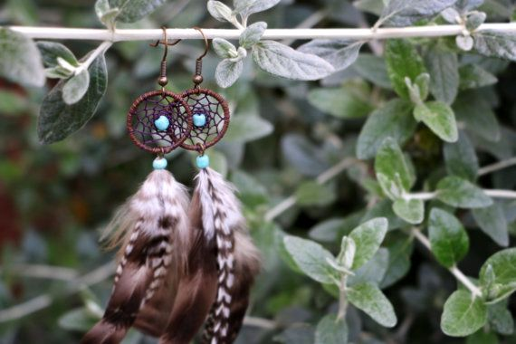 Natural Grizzly Feather Gypsy Dream Catcher by nZuriArtDesigns
