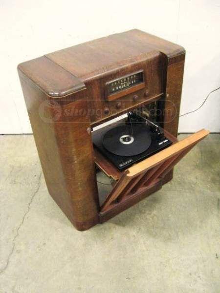 1940's Wards Airline Radio/Phono Combo Console | Old Hi Fi ... | 450 x 600 jpeg 25kB