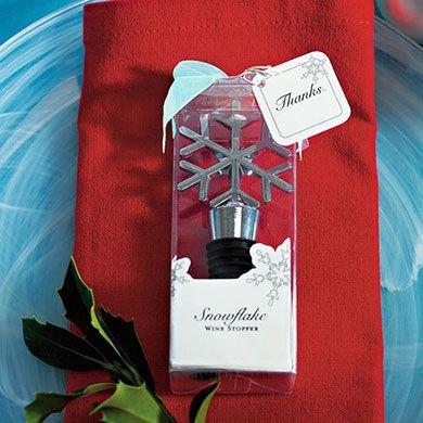 Snowflake Shaped Wine Stopper Wedding Favor