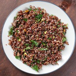 Red Quinoa with Pistachios | Eating on my day off | Pinterest