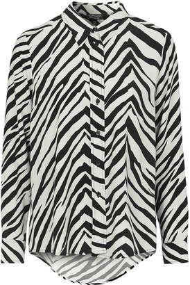 '70s Zebra Print Shirt - Shop for women's Shirt - Monochrome Shirt