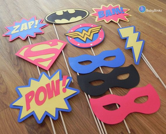Photo Props: The Justice League Super Hero Set 10 by BabyBinkz