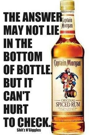 "Haha captain Morgans   www.LiquorList.com ""The Marketplace for Adults with Taste!"" @LiquorListcom #LiquorList.com"