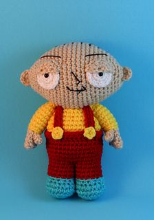 Stewie from Family Guy - free crochet pattern by Nichole's Nerdy Knots. There's also a link to her 'Brian' pattern.