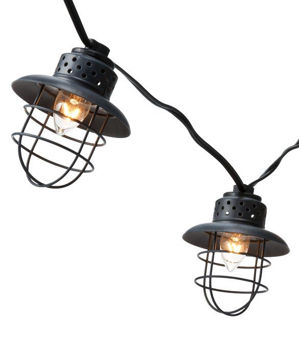 These outdoor lights are awesome! Smith & Hawken Metal Cage String Lights at Target stores, USD 25 ...
