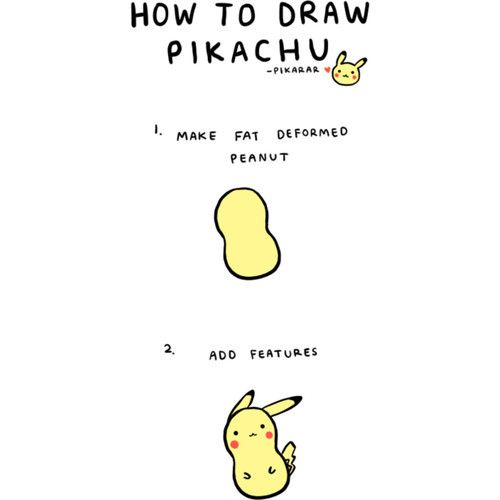 Kawaii Doodles How To Draw Pikachu