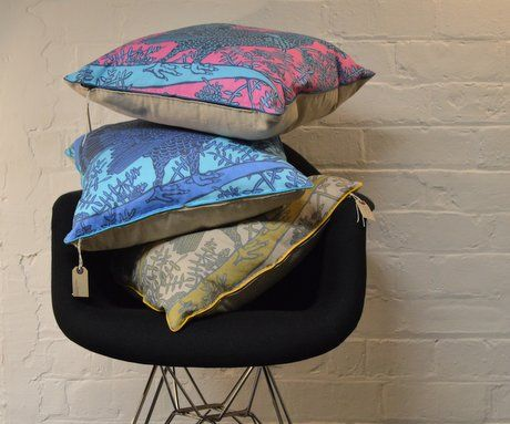 Capercaillie Endangered Animal Cushions by Ursula Hunter