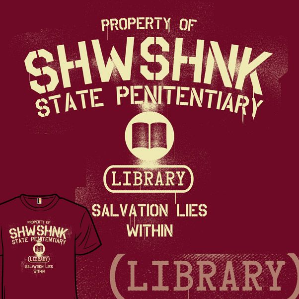 229 best movie the shawshank redemption images on for Librarian t shirt sayings