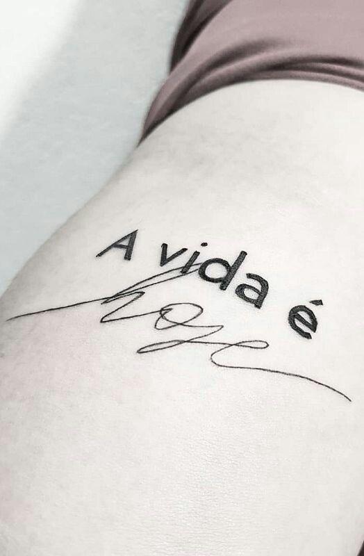 A vida é hoje | Tatuagem, Tatuagem escrita, Melhores tatuagens