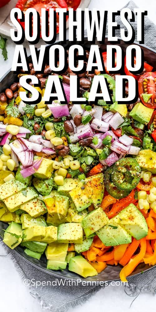 My family loves this fresh avocado salad! Made with chopped avocados, bell peppe… – Best Easy Recipes