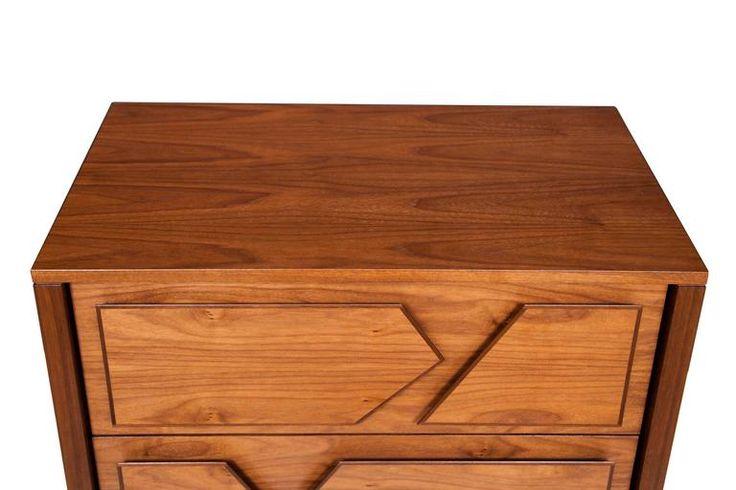 Armia Two Drawer Walnut Dresser 4