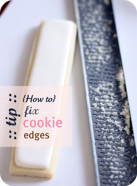 fixing cookie edges and logo cookie tutorial